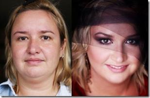 dekoratīva kosmētika pirms un pēc