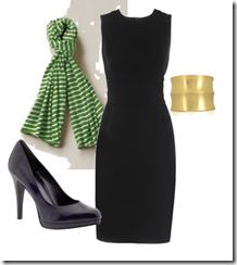 komplekts ar melno kleitu