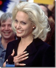 Angelina Jolie frizūras 1996