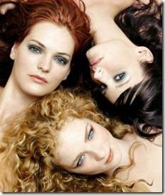blondine, tumšmate, rudmate