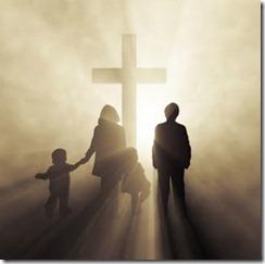 ģimene pie Jēzus