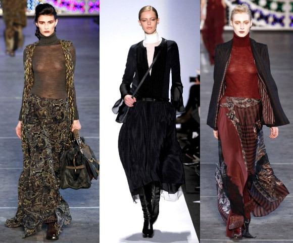 Новый тренд 2012.br /Модные длинные юбки осень-зима 2011-2012 br /на.