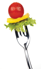 Vegetable On Fork