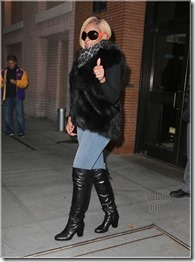 Mary J. Blige spotted wearing oversized sunglasses and fur vest in New York City