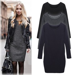2016-New-Autumn-Winter-Fashion-Warm-Women-Long-Sleeve-Bottomed-Casual-Dress-Ladies-Evening-Party-Dresses